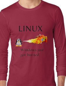 Windows Might Need Some Ice Long Sleeve T-Shirt