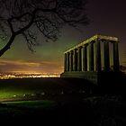 The Northern Lights (Aurora Borealis) from Calton Hill. Edinburgh by Miles Gray