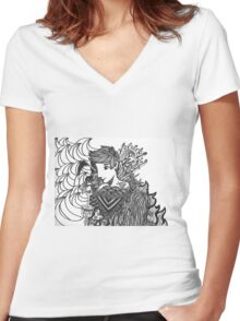 Ink for kicks Women's Fitted V-Neck T-Shirt