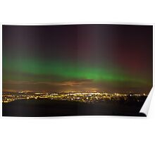 The Northern Lights overlooking Leith, Edinburgh Poster