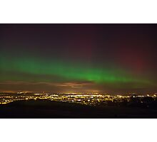 The Northern Lights overlooking Leith, Edinburgh Photographic Print