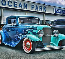 Flaming Blue Ford by rharrisphotos