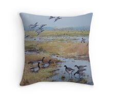 Brent Geese, Cley Marshes Throw Pillow