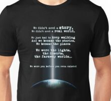 M83 'Intro' Inspired Earth and Space Quote Unisex T-Shirt