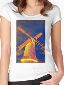Psychedelic windmill Women's Fitted Scoop T-Shirt