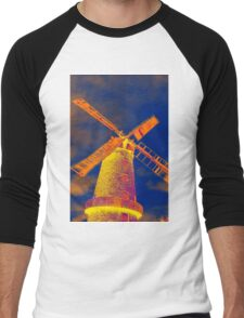 Psychedelic windmill Men's Baseball ¾ T-Shirt