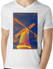 Psychedelic windmill Mens V-Neck T-Shirt