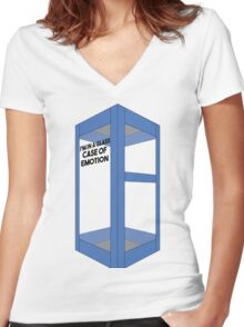 Glass Case  Women's Fitted V-Neck T-Shirt
