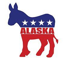 Alaska Democrat State Donkey  by Democrat
