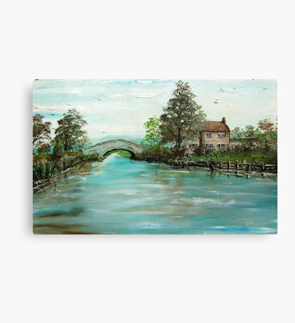 Bridge over the canal.  Canvas Print
