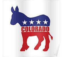 Colorado Democrat State Donkey  Poster