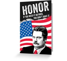 RON SWANSON Quote#5 Greeting Card