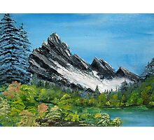 A Cold Mountian  Photographic Print