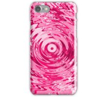 Abstract Pink Ripple Pattern iPhone Case/Skin