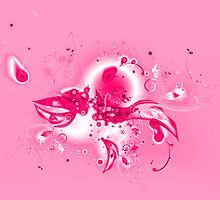 Abstract Pink Flourishes by bradyarnold