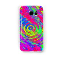 Abstract Psychedelic Ripple Pattern Samsung Galaxy Case/Skin