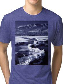 Winter at the Great Salt Lake  Tri-blend T-Shirt