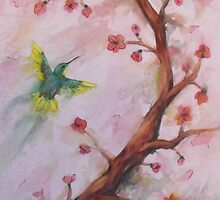 Humming Bird, watercolor by varzanic