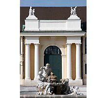 Schonbrunn Front Courtyard Fountain Photographic Print