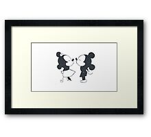 Minnie Mouse and Mickey Mouse  Framed Print