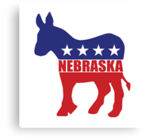 Nebraska Democrat Donkey Canvas Print