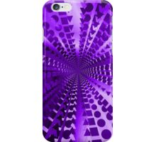 Abstract Purple Radial Pattern iPhone Case/Skin