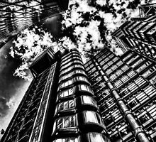 Lloyd's and Willis Buildings by DavidHornchurch