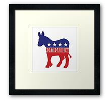 North Carolina Democrat Donkey Framed Print