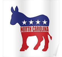 North Carolina Democrat Donkey Poster