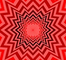 Abstract Red Sunburst Pattern by bradyarnold