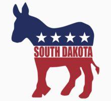 South Dakota Democrat Donkey Kids Tee