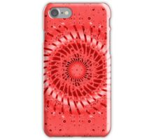 Abstract Red Spiral iPhone Case/Skin
