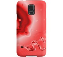 Abstract Red Fluid Samsung Galaxy Case/Skin