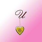 U Golden Heart Locket by Chere Lei