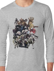 No More Heroes - Top 10 Ranked Assassins (concept art collage) Long Sleeve T-Shirt