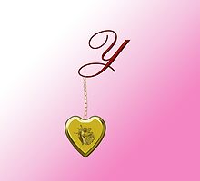 Y Golden Heart Locket by Chere Lei