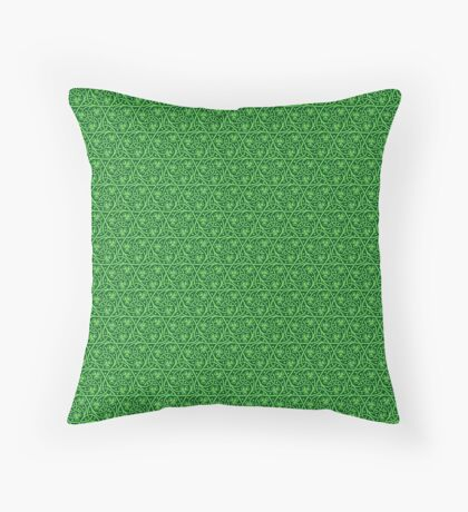 Irish Celtic Shamrocks Throw Pillow