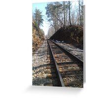 A walk on the tracks Greeting Card