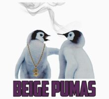 Penguin smoking blunt Beige Pumas Graphic by beigepumas