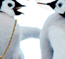 Penguin smoking blunt Beige Pumas Graphic Sticker