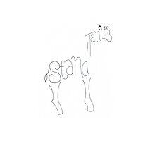 Stand Tall Giraffe by cailikoala