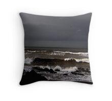 Dark Sky and Heavy Seas Throw Pillow