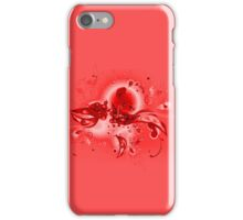 Red Flourishes iPhone Case/Skin