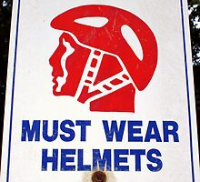 Helmet Awareness Sign by jimrac