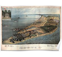 Civil War Maps 1434 Point Lookout Md View of Hammond Genl Hospital US genl depot for prisoners of war Poster