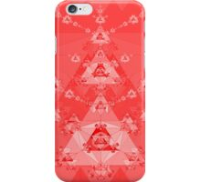 Red Triangle Fractal iPhone Case/Skin