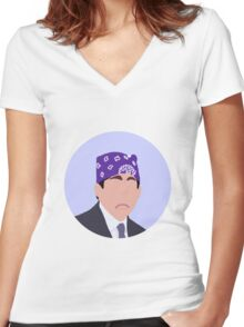 Prison Mike Women's Fitted V-Neck T-Shirt