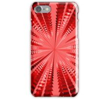 Abstract Red Radial Pattern iPhone Case/Skin