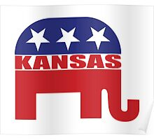 Kansas Republican Elephant Poster