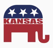 Kansas Republican Elephant Baby Tee